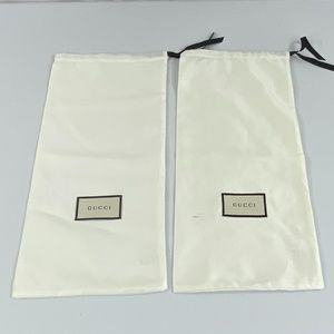 💯2 Authentic Gucci Shoe Dustbags